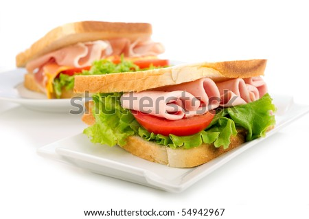 sandwich with turkey tomato and lettuce