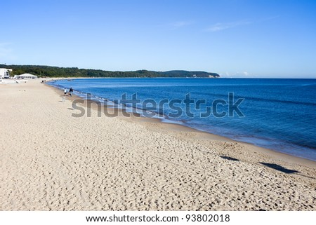 Sandy beach at the southern coast of the Baltic Sea in Sopot (seaside town in Eastern Pomerania region), Poland