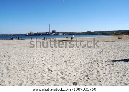Sandy beach of Aabenraa, south Denmark, Denmark #1389005750