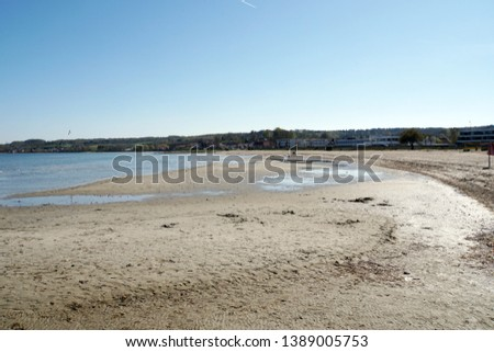 Sandy beach of Aabenraa, south Denmark, Denmark #1389005753