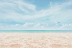 Sandy beach with sky - Image