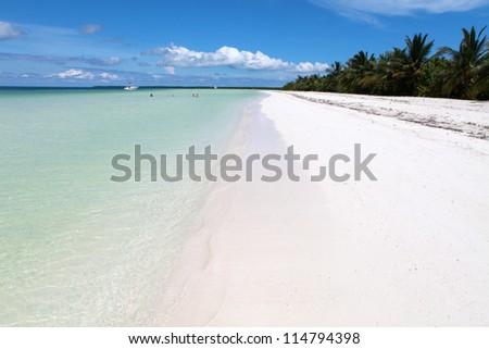 Sandy coast and clear sea
