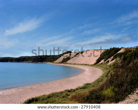 Sandy Cove Beach in Newfoundland, canada - stock photo