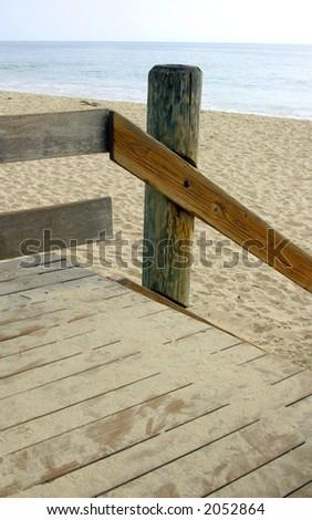 Sandy gateway to beach
