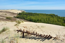 Sandy Grey Dunes at the Curonian Spit in Nida, Neringa, Lithuania