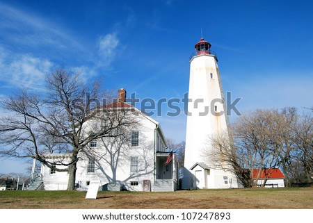Sandy Hook Lighthouse in New Jersey / Shadows on the Wall