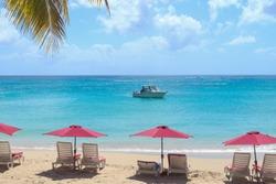 Sandy Lane, Holetown / Barbados - 04 20 2019: Sandy Lane Beach, Holetown, Barbados