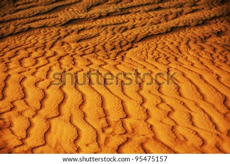Sandy texture of Arabian desert