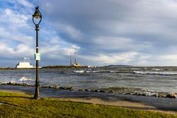 Sandymount Strand in Dublin Ireland sea view