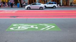 Sanfrancisco bike lane at Market Street.