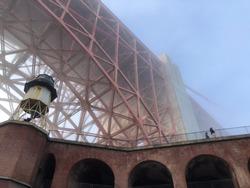 Sanfrancisco bridge in the cloud