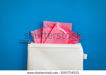 sanitary pads in individual packing in handbag #1095754553