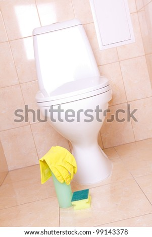 Sanitary tools for clean toilet
