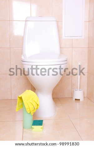 Sanitary tools for cleaning toilet