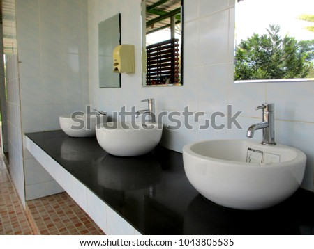 Sanitary ware, sinks and faucets to clean the dirt in body | EZ Canvas