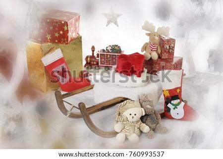 Sankt Nikolaus, Geschenke, Weihnachten, Stock foto ©