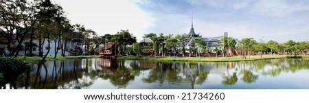 Sanphet Palace Throne hall, Ayutthaya- Ancient city Samutprakan Thailand Panorama