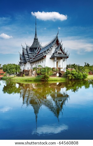 stock photo : Sanphet Prasat Palace, Ancient City, Bangkok, Thailand