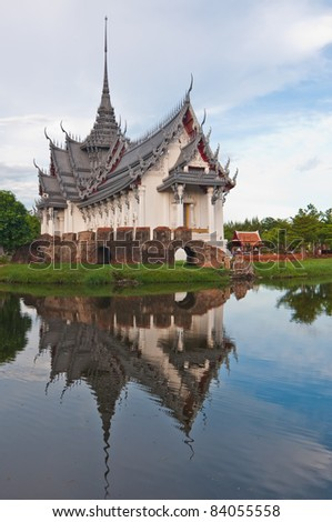 Sanphet Prasat Throne Hall at Ancient City, Thailand.