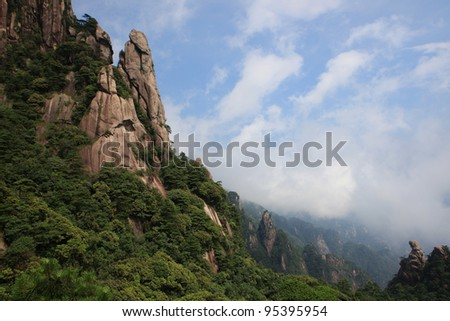 sanqing mountains landscapes in china