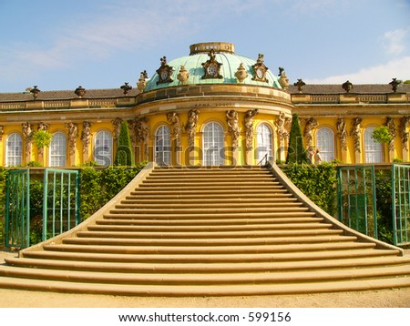 Sans Souci palace in Potsdam, Berlin, Germany, Europe. - stock photo