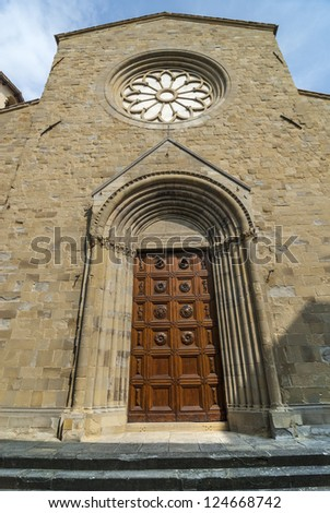 Sansepolcro (Arezzo, Tuscany, Italy) - Front of the ancient Cathedral #124668742