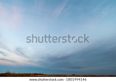 Photo of  Sanset Sky with colorful clouds, without birds, clear and worm evening, Sunrise Sundown evening time