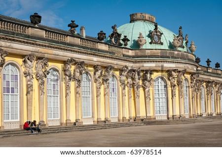 Sanssouci castle in Potsdam, Germany