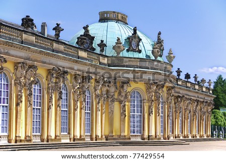 Sanssouci is the name of the former summer palace of Frederick the Great, King of Prussia, in Potsdam, near Berlin. It is often counted among the German rivals of Versailles.