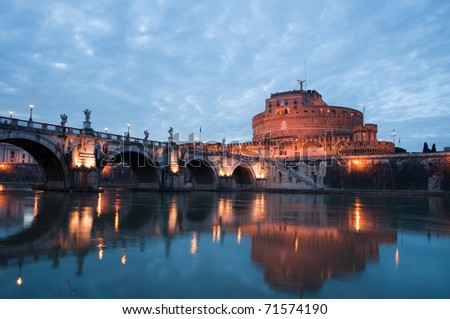 Sant' Angelo Castel and Sant' Angelo Bridge ,Rome