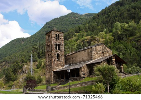 Sant Joan de Caselles (Canillo, Andorra). famous Romanesque church build in the 12th century.