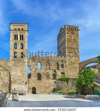 Sant Pere de Rodes is a former Benedictine monastery in the North East of Catalonia, Spain. Stock fotó ©