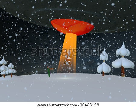 The United States of the Solar System: A.D. 2133 (Book Two) - Page 6 Stock-photo-santa-abducted-santa-being-beamed-up-by-a-flying-saucer-at-the-north-pole-or-is-santa-really-an-90463198