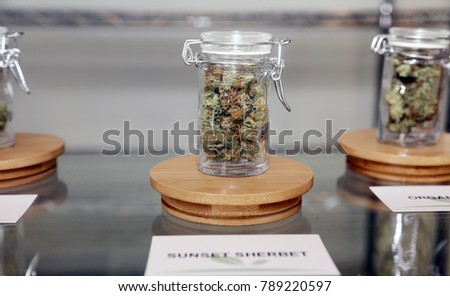 Santa Ana, California / USA January 1, 2018. California passes the Recreational Marijuana law allowing adults over 21 years old to legally purchase and consume Marijuana in their private residences.