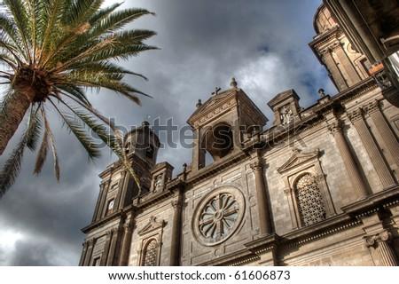 santa ana cathedral. las palmas de gran canaria - stock photo