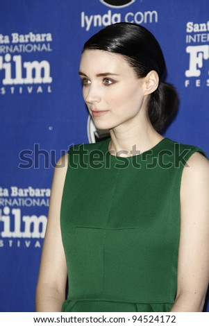 SANTA BARBARA, CA - FEB 3: Rooney Mara at the 27th annual Santa Barbara Film Festival Virtuosos Award Ceremony at the Arlington Theater on February 3, 2012 in Santa Barbara, California