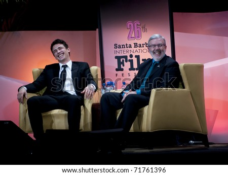 SANTA BARBARA, CA - JAN 29: Oscar nominee, James Franco, attends his tribute for Outstanding Performance award at the 26th Santa Barbara Int'l Film Festival Jan 29, 2011 in Santa Barbara, CA.