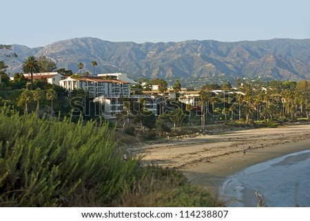 Santa Barbara California. Santa Barbara Beach. American Cities Photo Collection.
