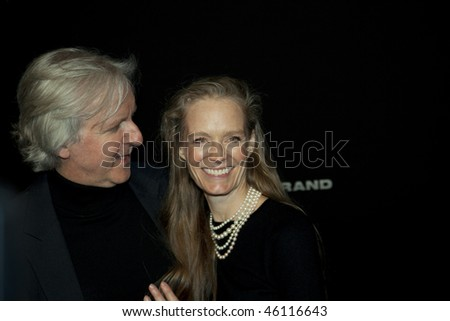 SANTA BARBARA - FEB06 :Avatar Director James Cameron receives the Lucky Brand Modern Master Award with his wife at the 25th Santa Barbara International Film Festival, Feb 06, 2010 in Santa Barbara, CA
