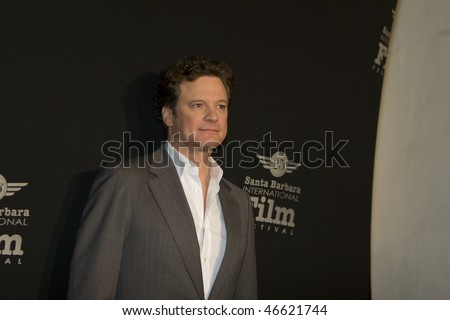 SANTA BARBARA - FEB. 13- Oscar nominee Colin Firth receives the Outstanding Performance of the Year Award at the 25th Santa Barbara International Film Festival, Feb. 13, 2010 in Santa Barbara, CA
