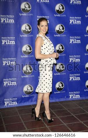 SANTA BARBARA - JAN 31: Amy Adams at the Cinema Vanguard Award ceremony at the 28th Santa Barbara International Film Festival on January 31, 2013 in Santa Barbara, California