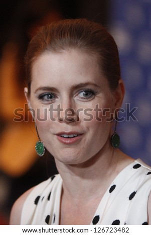 SANTA BARBARA - JAN 31: Amy Adams at the Cinema Vanguard Award ceremony at the 28th Santa Barbara International Film Festival on January 31, 2013 in Santa Barbara, California