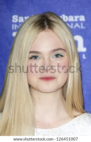 SANTA BARBARA - JAN 29: Elle Fanning at the Virtuosos Awards at the 28th Santa Barbara International Film Festival on January 29, 2013 in Santa Barbara, California