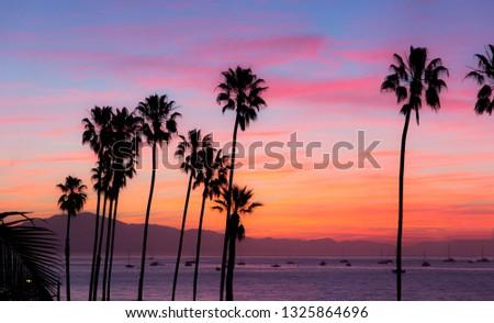 Santa Barbara Sunset  #1325864696