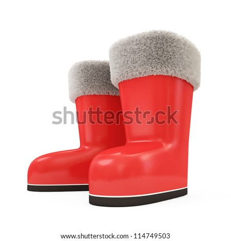 Santa Boots isolated on white background