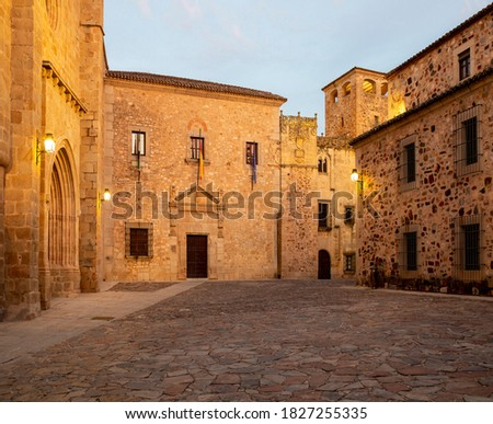 Santa Clara Convent, in Santa Maria square, close to the Co-Cathedral, in Caceres city, Extremadura, Spain.