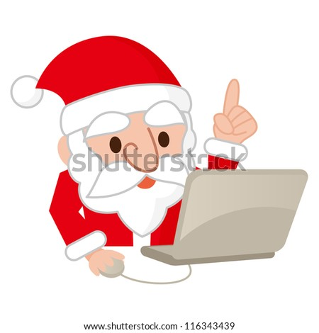 Santa Claus and a personal computer