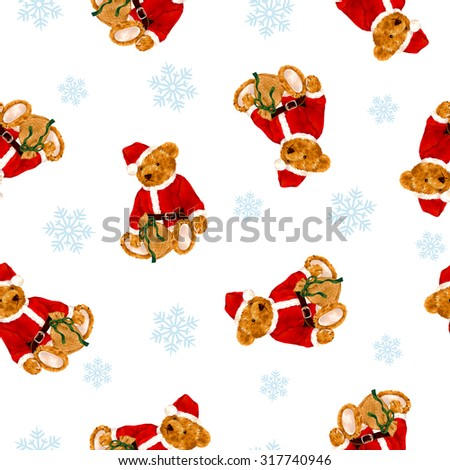 Stock Photo Santa Claus Bear illustration pattern