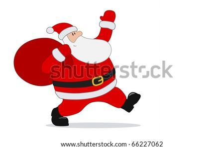Santa Claus card with copy space - check vector in portfolio