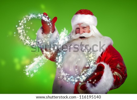 Santa Claus Christmas discount sales concept - stock photo